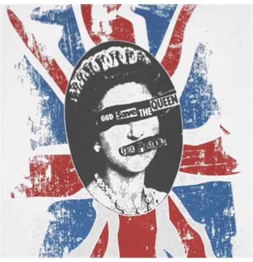 Officially licensed Sex Pistols Save The Queen White T-Shirt. Features a God ...