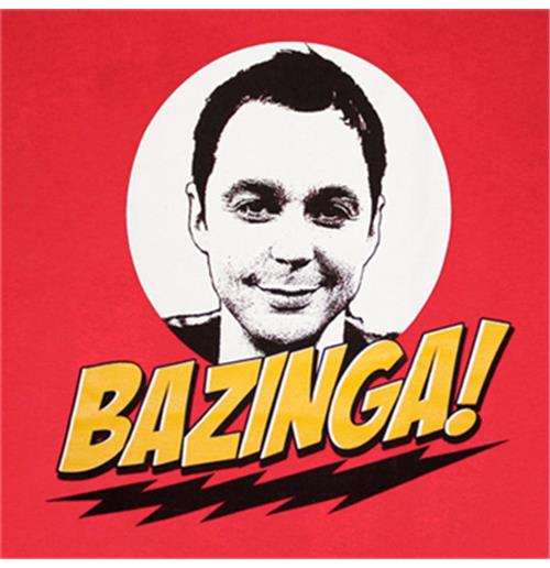 BIG BANG THEORY Bazinga Sheldon Tee Shirt
