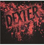 blood splatter black background. DEXTER Showtime Blood Splatter