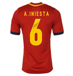 2013-14 Spain Home Shirt (A.Iniesta 6) - Kids