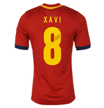 2013-14 Spain Home Shirt (Xavi 8) - Kids