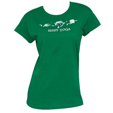 Irish Yoga St. Patrick's Day Green Juniors Graphic Tee Shirt