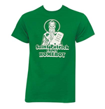 Saint Patrick Is My Homeboy Kelly Green Graphic Tee Shirt