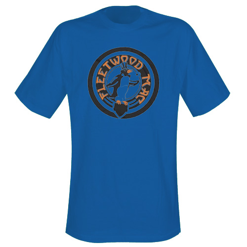 Fleetwood Mac Navy T Shirt With Vintage Style Design
