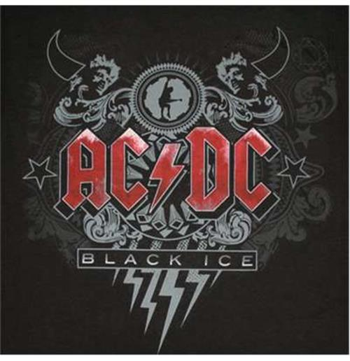 Official ACDC Black Ice Red Logo Tee Shirt: Buy Online on ...