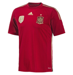 2014-15 Spain Home World Cup Football Shirt
