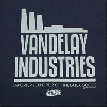 SEINFELD Vandelay Industries Dark Blue Graphic Tee Shirt