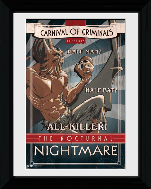 Batman Circus Nocturnal Nightmare Framed Print