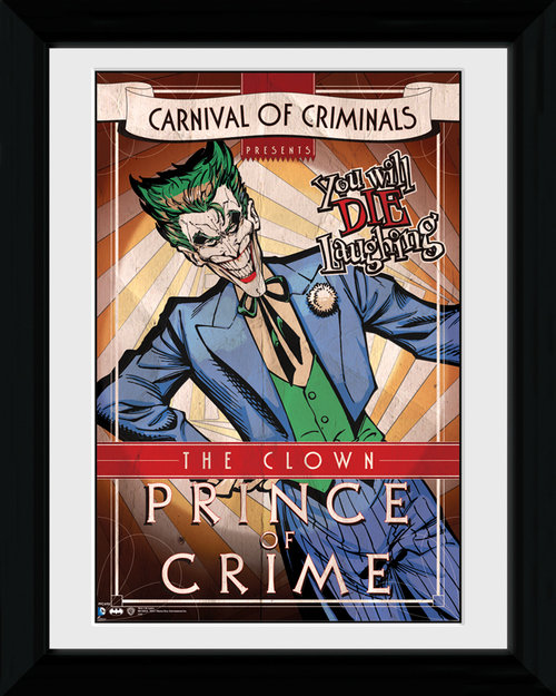 Batman Circus Joker Framed Print
