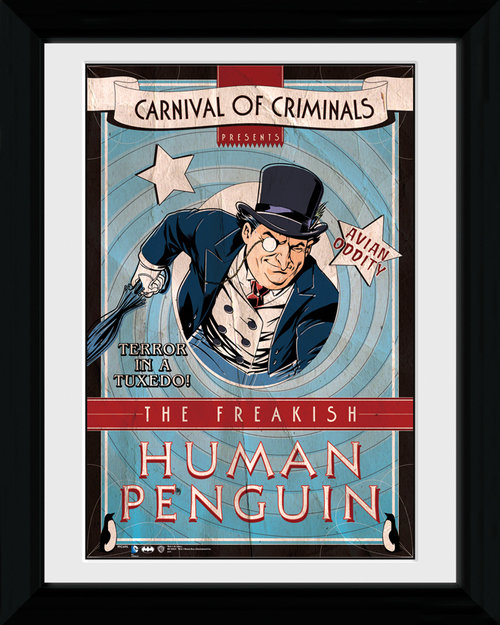 Batman Circus Human Penguin Framed Print