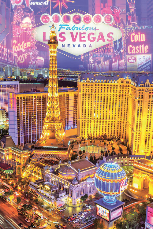 Las Vegas Collage Maxi Poster