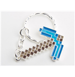 Minecraft Metal Keychain Diamond Pickaxe