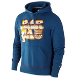 2011-12 Barcelona Nike Core Hooded Top (Blue)