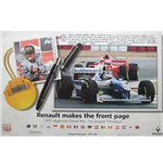 "F1 memorabilia Renault F1 Poster ""Renault Makes The Front Page"""