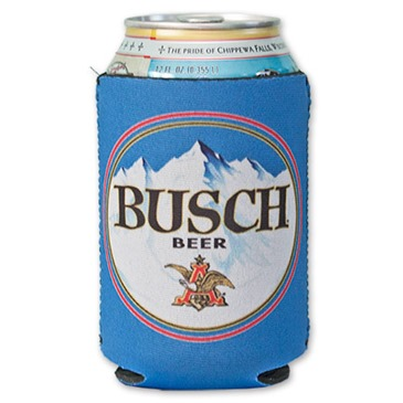Blue BUSCH Beer Can Koozie