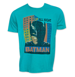 Men's Retro BATMAN Up All Night Junk Food Tee Shirt