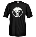 Round necked t-shirt with flex printing - God Of DIe