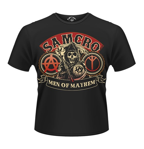 official sons of anarchy t shirt samcro reaper buy online. Black Bedroom Furniture Sets. Home Design Ideas