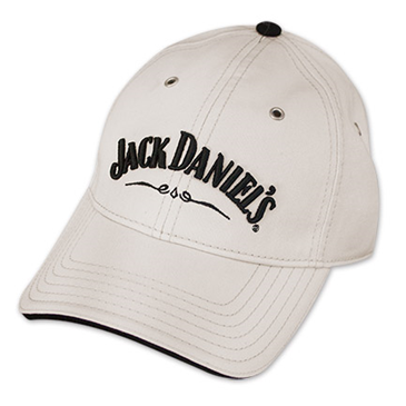 Jack Daniel's Whiskey Official Adjustable Ivory Hat Baseball Cap