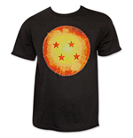 Dragon Ball Z Black Four Star Dragon Ball Tee Shirt