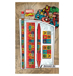 Marvel Comics 5-Piece Stationery Set Faces Retro