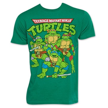 Teenage mutant ninja turtles tmnt retro vintage group logo for Turtle t shirts online