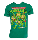 TEENAGE MUTANT NINJA TURTLES TMNT Retro Vintage Group Logo T-Shirt