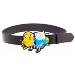 ADVENTURE TIME Black Belt with Jake & Finn 2D Buckle, Small