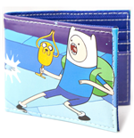 ADVENTURE TIME Finn and Jake Bifold Wallet, Blue