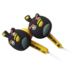 ANGRY BIRDS Bird Ear Buds Accessory Set For Nintendo DSi/DSi XL/3DS, Black (4PC)