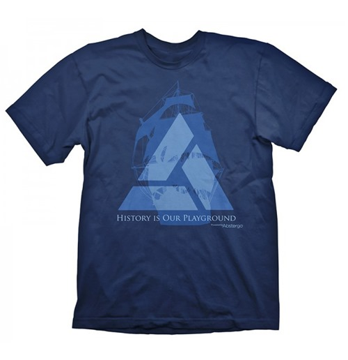 ASSASSINS CREED 4 Distant Lands Medium T-Shirt, Navy Blue