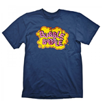 BUBBLE BOBBLE Vintage Logo Medium T-Shirt, Blue