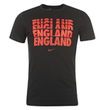 2014-15 England Nike Core Type Tee (Black)