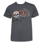 SONS OF ANARCHY Men's Grey Two Sided Gun And Sickle Tee Shirt