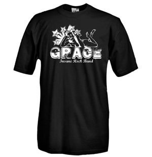 Round necked t-shirt with flex printing - Grace