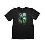 MINECRAFT Three Creeper Moon Extra Large T-Shirt, Black