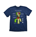MINECRAFT Creeper Anatomy Extra Large T-Shirt, Navy