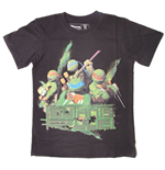 TEENAGE MUTANT NINJA TURTLES (TMNT) Mutants Rule Kids T-Shirt, 140/146cm, Black