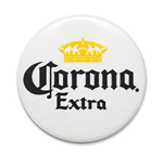 CORONA EXTRA White Button Pin