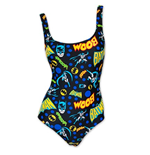 BATMAN Women's One Piece Pop Art Bathing Suit