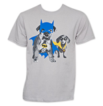 BATMAN And Robin Grey Dog Costume Tee Shirt