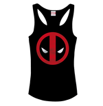 Marvel Comics Girlie Tank Top Deadpool Logo