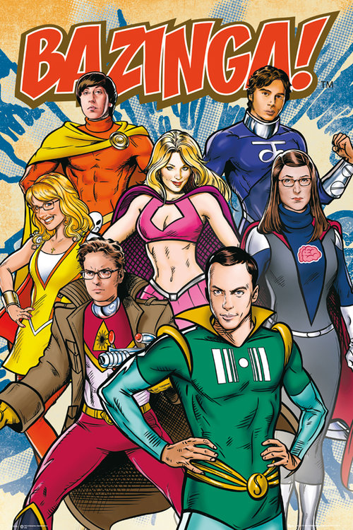 The Big Bang Theory Superheroes Maxi Poster
