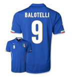 2014-15 Italy World Cup Home Shirt (Balotelli 9)