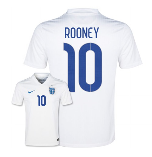 2014-15 England World Cup Home Shirt (Rooney 10) - Kids