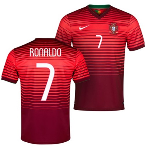 low priced 24ac9 38057 2014-15 Portugal World Cup Home Shirt (Ronaldo 7)