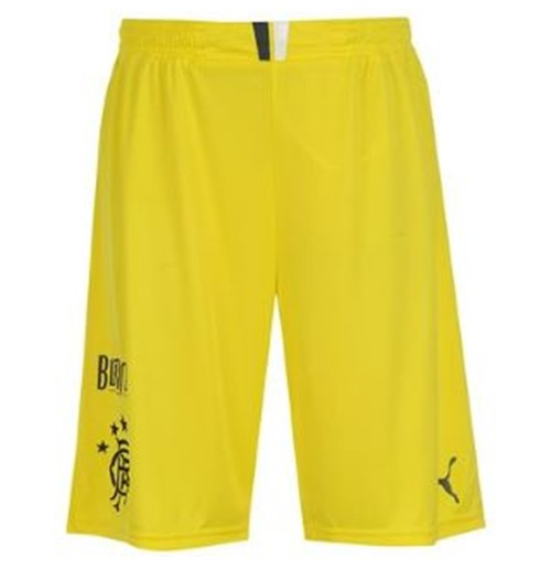 2013-14 Rangers Home Goalkeeper Shorts (Yellow)