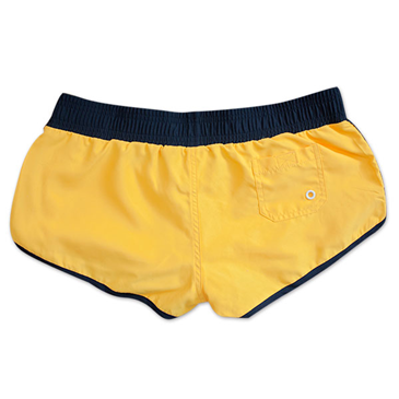Corona Embroidered Yellow Women's Beach Booty Swim Shorts