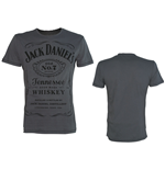 JACK DANIEL'S Classic Black Logo Medium T-Shirt, Grey