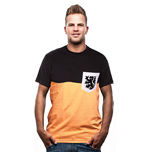 Holland Pocket T-Shirt // Orange - Black 100% cotton